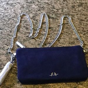 Handbags - Navy Suede purse - New